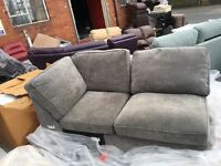 New/Ex Display Dfs Grey 2 Seater Chaise Sofa
