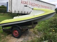 Jetski classic vintage jet ski boat fishing