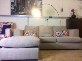 Next Stratus Corner Sofa in Pebble Grey RRP £1300