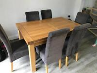 Oak Furniture Land Extendable Dining Table and chairs
