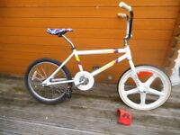 2 x bmx bikes - Raleigh Burner and BTWIN - Spares or Repair - UNFINISHED PROJECT - BARGAIN