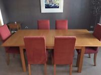 M&S Lichfield Oak Dining Table, 6 Chairs & Sideboard