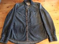 Men's next large jean shirt never worn