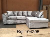 HIGH QUALITY Samantha right hand crushed velvet corner sofa