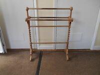 Wooden Towel Rail Free Standing
