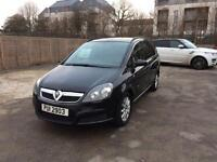 Vauxhall Zafira 7 Seater Private Plate 1.6 Petrol 1 Year MOT Black tinted Windows For Sale
