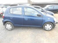TOYOTA YARIS VVT-I GLS 1.3 BREAKING FOR PARTS/SPARES 2002 REG