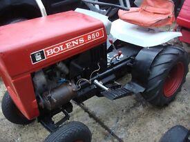 tractor bolend model 850 petrol engine start on electric ready to go