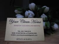 YOUR CLEAN HOME / DOMESTIC CLEANING AND IRONING.