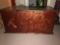 Solid wooden toy box