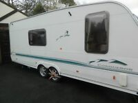 caravan twin axle swift for sale with awning and all extras ready to go