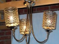 Ceiling Light with 3 bulbs in silver/chrome finish by Next
