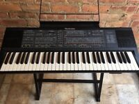 Vintage Technics sx-k700 keyboard with stand and carry case