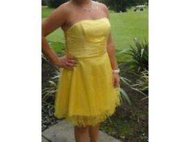 Bright yellow Prom... Wedding.. Christening dress size 12