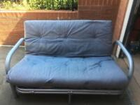 Denim Blue Futon style sofa bed