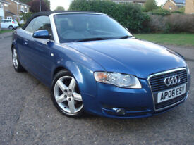Audi A4 Cabriolet 2.0 TDI 140 BHP 6 SPEED Manual Sport,3 Former Keepers From New,Service History