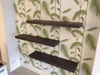 3no floating shelves from Habitat