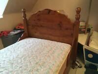 Beautiful timber single bed