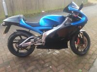 Aprilia rs 125 , full mot , full power , arrow exhaust system