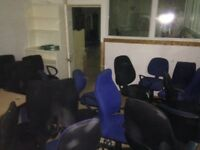 Office furniture -desk-chairs-filling cabinets,complete lot,£5000 new £575 2day cash in collection