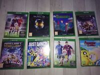Selection of Xbox one games