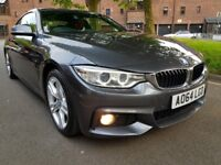 BMW 420D M SPORT AUTOMATIC 1 OWNER FROM NEW SAT-NAVIGATION, GEAR PADDLE SHIFT, RED LEATHER SEATS