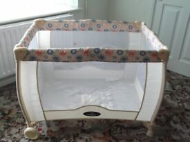 Babystart Deluxe travel cot suitable from birth