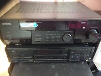 Kenwood receiver and aiwa cd player
