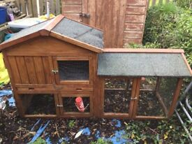 Rabbit / guinea pig hutch two tier