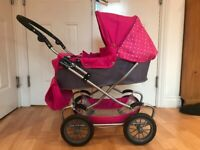Mamas & Papas Pink Dolls Pram + Accessories