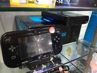 Nintendo WiiU Black Console Boxed