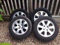 Original Peugeot 307 Alloy wheels 15'' . With good tires