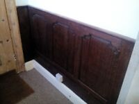 Antique solid oak panelling.