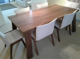Dining Table & 6 Chairs - Lincoln walnut
