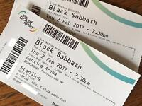 Black Sabbath Gold Circle Standing Tickets x2