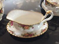 Royal Albert Old Country Roses Gravy Boat and saucer, pristine condition
