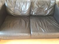 Leather sofa for collection