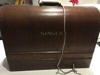 Vintage SINGER electric sewing machine
