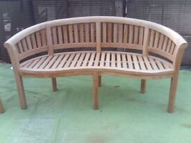 Ex display teak bench was £399