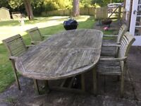 Teak Garden Furniture with 4 chairs. FREE