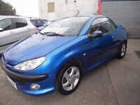 CONVERTIBLE...1.6.CC..PEUGEOT 206,CC..LEATHER INTERIOR ,NICE CAR....