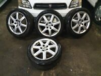 HONDA CIVIC 17 INCH ALLOYS AND TYRES 5 X 114.3