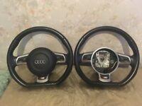 AUDI S3 8P Black Edition Flat bottom Steering Wheel A3 A4 A5 A6 TT TTS S LINE