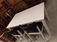 White table and chairs new