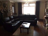Lovely Brown Corner Sofa.