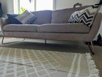 Dark Blush Sofa from TK MAXX