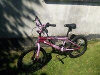 Halfords Vibe Envy girls bmx bike in pink £35 ono