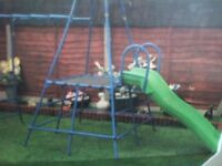 CLIMBING FRAME WITH MONKEY BARS AND LARGE SLIDE CAN DELIVER LOCAL