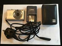 Canon Ixus IS 80 digital camera, charger and case package