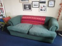 2 seater green Reid sofa for sale - West End
